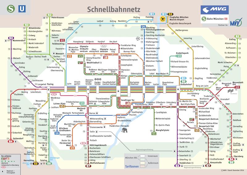 Schnellbahnnetzplan